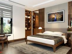 Thiết kế nội thất phòng ngủ gỗ công nghiệp đẹp, hiện đại