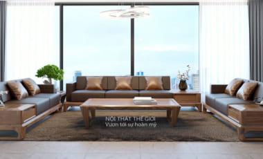 sofa gỗ tự nhiên đẹp