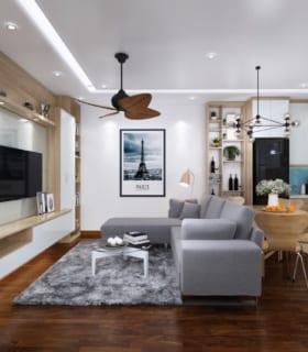 thiết kế nội thất theo phong cách hiện đại